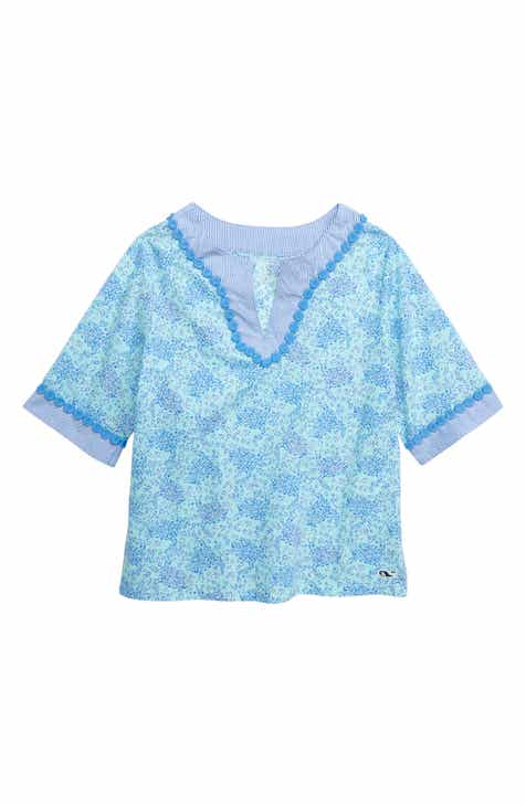 caeb403f8c88 vineyard vines Sea Turtle Print Tunic Top (Toddler Girls)