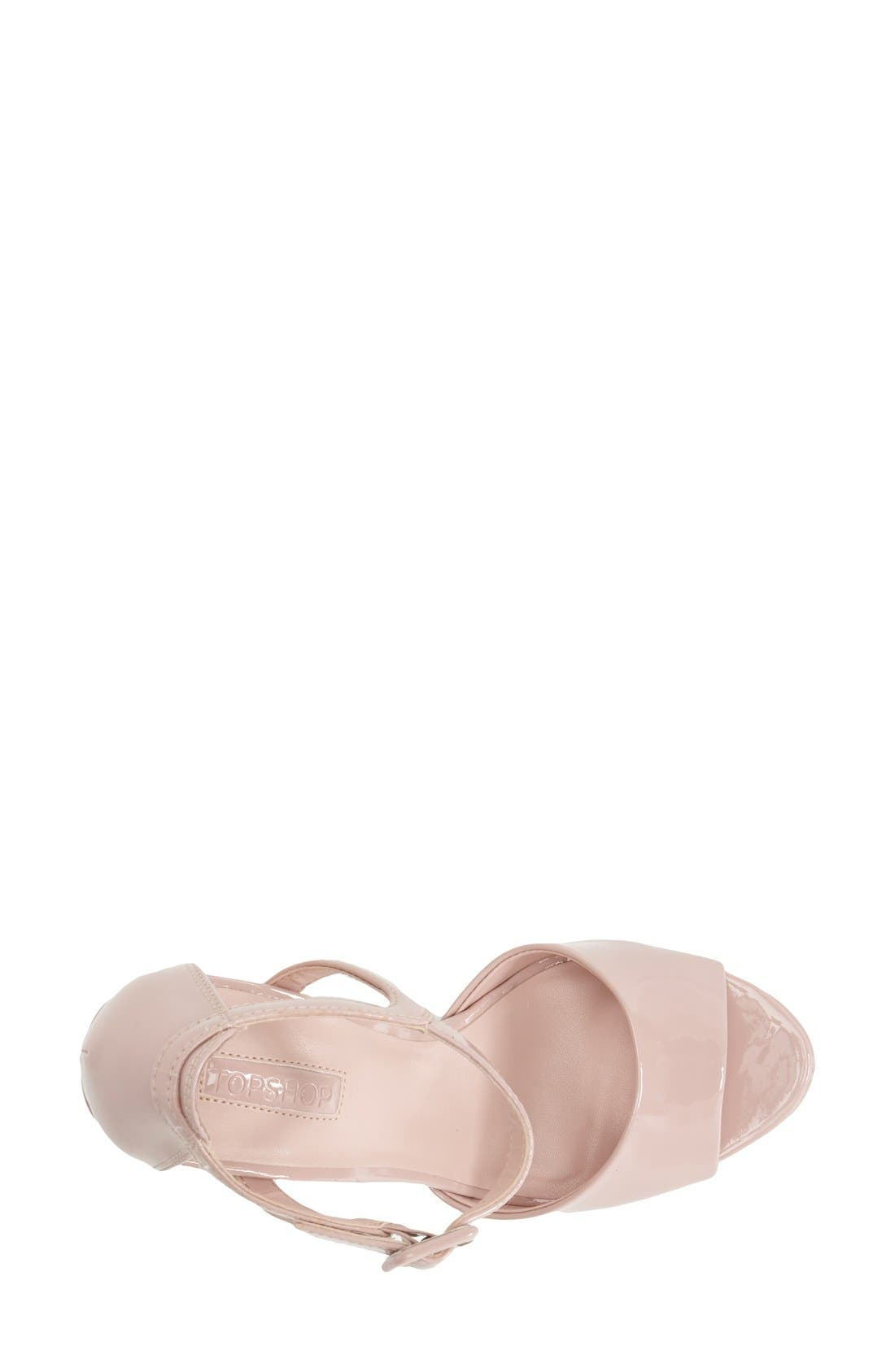 Alternate Image 3  - Topshop 'Lena' Ankle Strap Platform Sandal (Women)