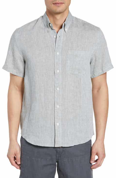 d50335dbde Billy Reid Tuscumbia Regular Fit Linen Woven Shirt