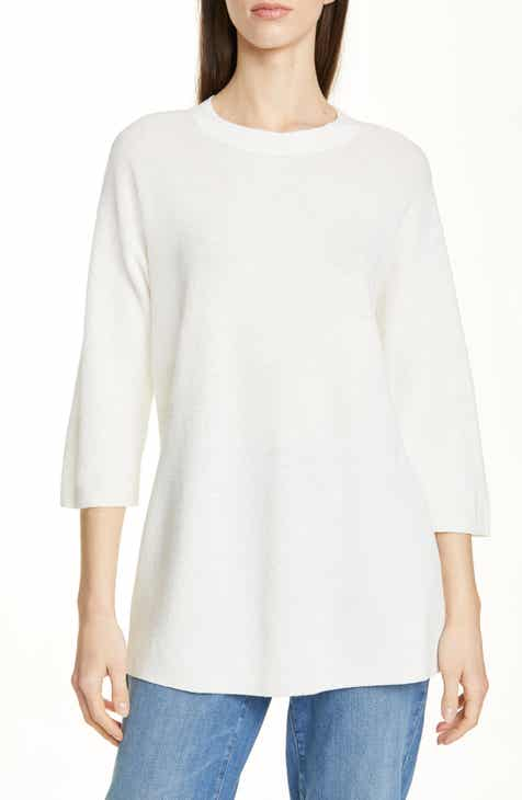 Eileen Fisher Organic Linen Blend Tunic Pullover (Regular & Petite) by EILEEN FISHER