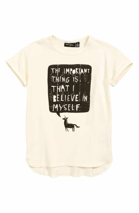 2d814592 Rock Your Kid Believe in Myself Unicorn T-Shirt Dress (Toddler Girls &  Little Girls)