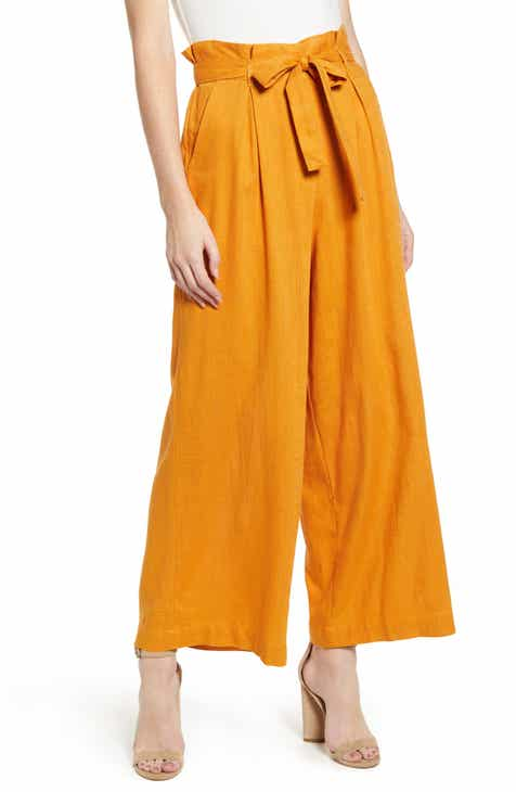 MINKPINK Daybreak High Paperbag Waist Swing Pants by MINKPINK