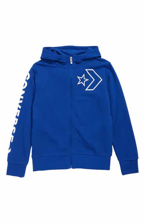f2f888c2b60 Converse Star Chevron Outline Logo Zip Hoodie (Big Boys)
