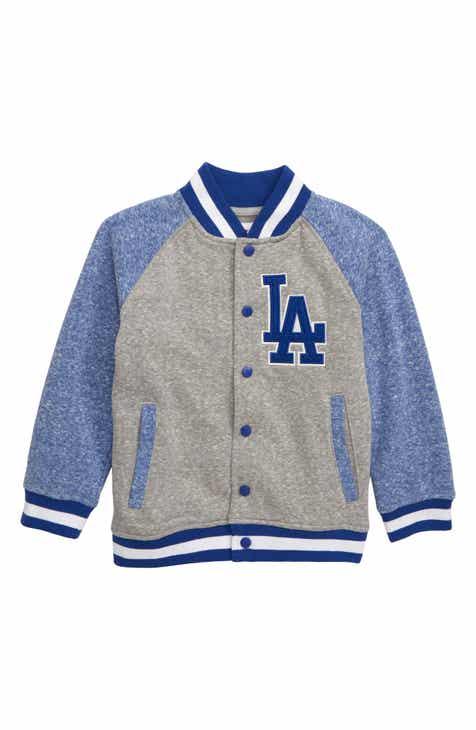 f15e46f3eea Majestic MLB Los Angeles Dodgers Pride Fleece Bomber Jacket (Toddler Boys)