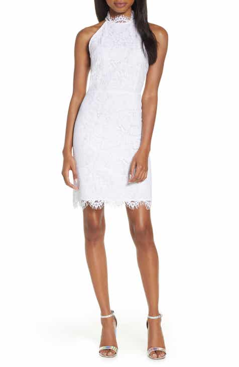 e72a52488eb7 BB Dakota Cara High Neck Lace Cocktail Dress