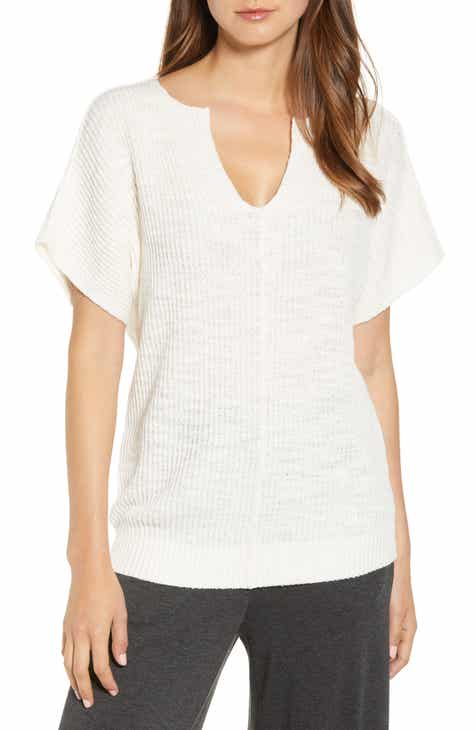 St. John Collection V-Neck Marled Link Knit Sweater by ST. JOHN COLLECTION