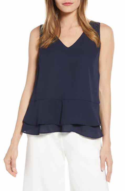 0afe5a858a3db Gibson x Living in Yellow Willow Tiered Peplum Top (Regular   Petite)  (Nordstrom Exclusive)
