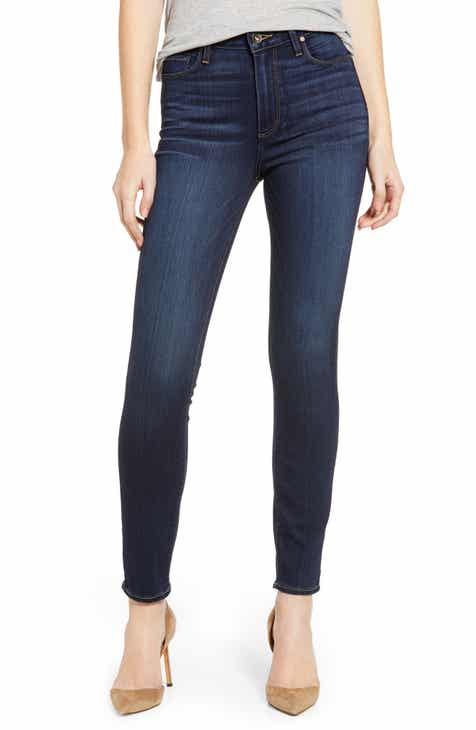 Save 10% on PAIGE Transcend - Hoxton High Waist Ankle Skinny Jeans (Koda) (Nordstrom Exclusive)