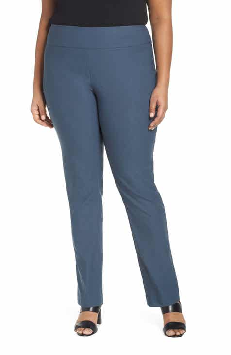 NIC+ZOE Wonderstretch Straight Leg Pants (Plus Size) by NIC AND ZOE