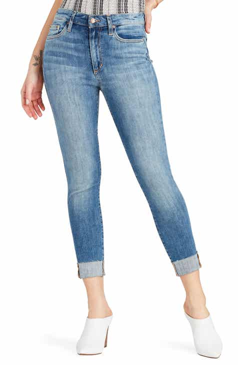 Joe's Charlie High Waist Raw Hem Crop Skinny Jeans (Shondra) by JOES