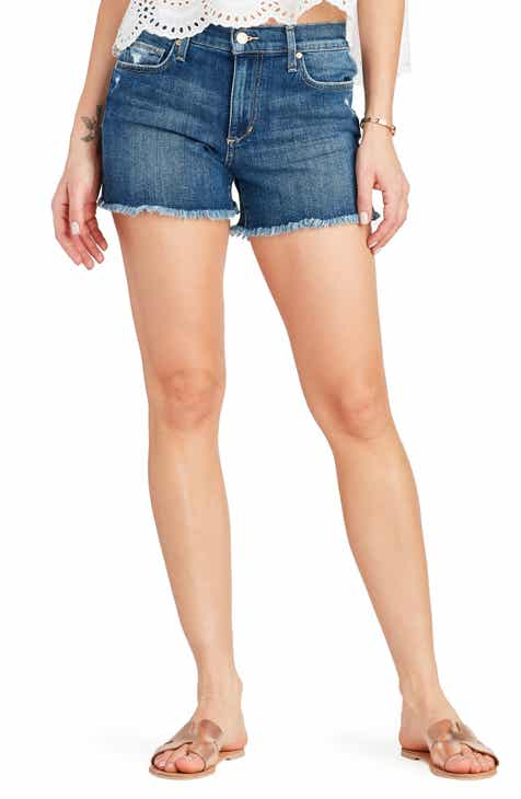 7 For All Mankind® Cuffed Denim Shorts (Clean White) by 7 FOR ALL MANKIND