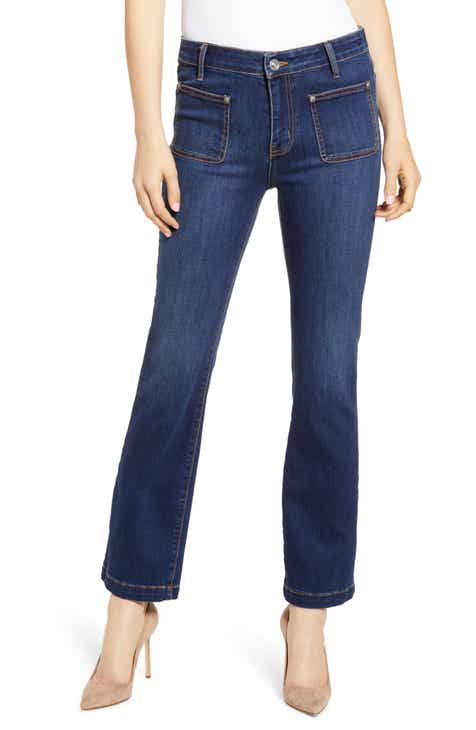 Current/Elliott The Cropped Bootcut Jeans (Riptide) by CURRENT/ELLIOTT