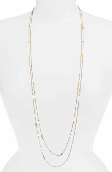e8045baaabddc ALLSAINTS Long Layered Station Necklace (Nordstrom Exclusive)