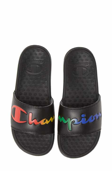 697817317df68 Champion Super Split Script Sport Slide (Women)