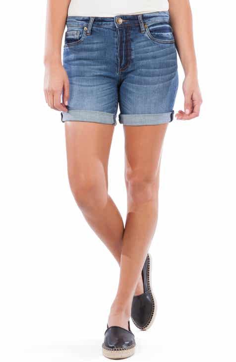 KUT from the Kloth Chloe Rolled Boyfriend Denim Shorts (Tasteful)