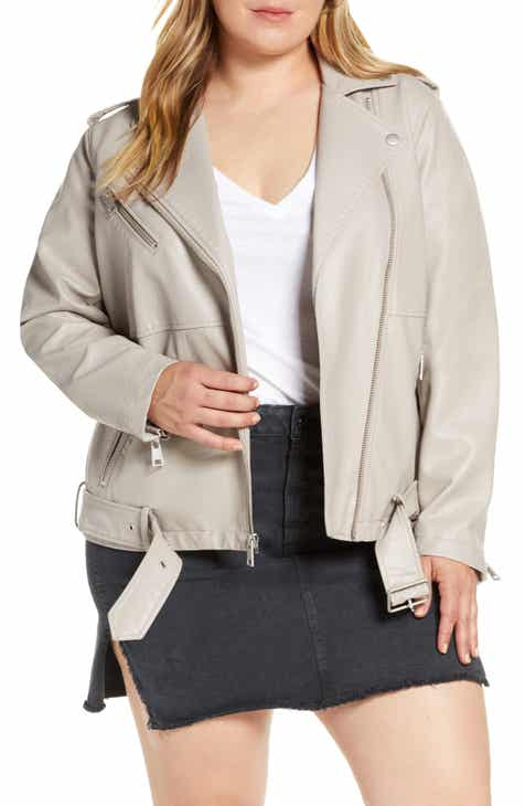 Levi's® Oversize Faux Leather Moto Jacket (Plus Size) by LEVIS