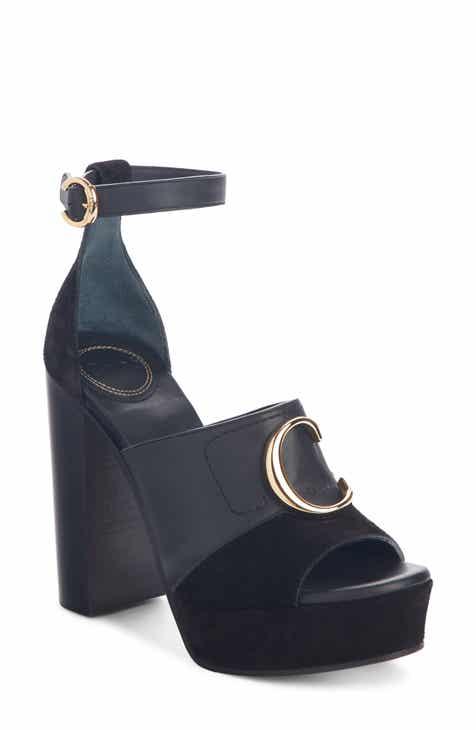 775b9418829 Chloé C Logo Platform Ankle Strap Sandal (Women)