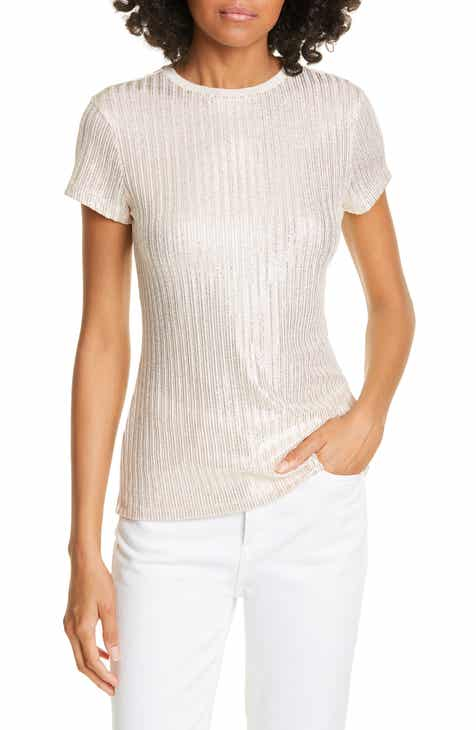 ded73ac40 Ted Baker London Catrino Fitted Metallic Tee