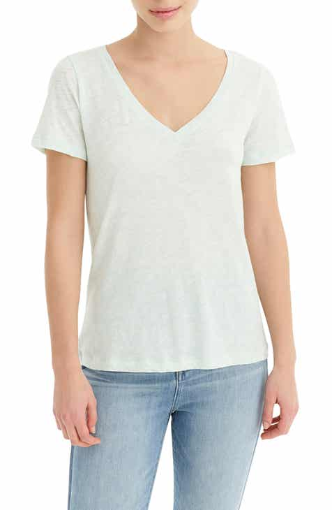 f29d7d53249915 J.Crew Vintage Cotton V-Neck Tee (Regular & Plus Size)