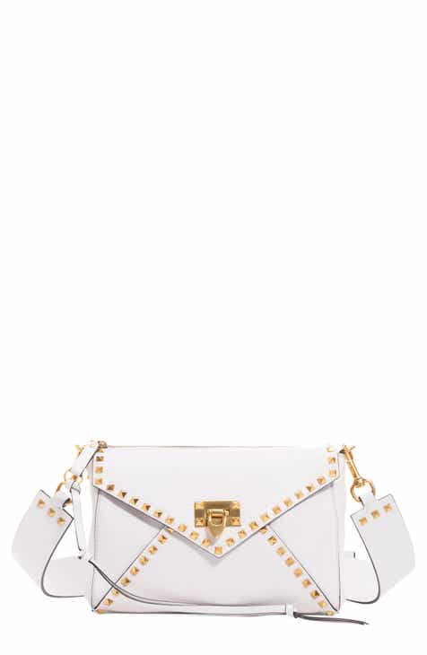 8c293113aab VALENTINO GARAVANI Medium Rockstud Hype Leather Shoulder Bag