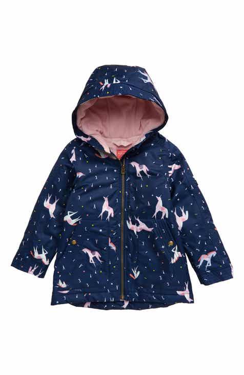 46c24a365 Joules Raindrop Waterproof Rain Jacket (Toddler Girls, Little Girls & Big  Girls)