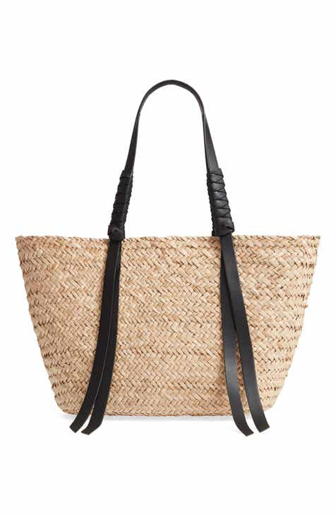 f4475c81e42f69 ALLSAINTS Playa East/West Woven Straw Beach Tote