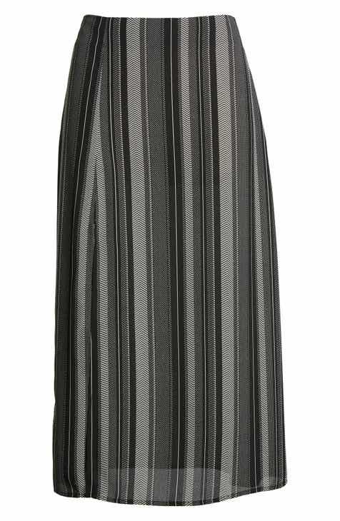 6c69b38d9 Good Luck Gem Slit Front Midi Skirt