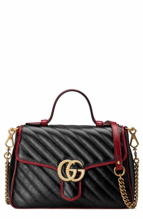 44f7ca1300c6 Gucci Small GG Marmont 2.0 Matelassé Leather Top Handle Bag