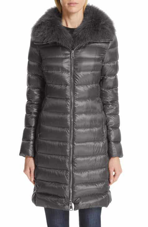 9e53d6cdd84 Herno Quilted Down Puffer Coat with Removable Genuine Fox Fur Collar