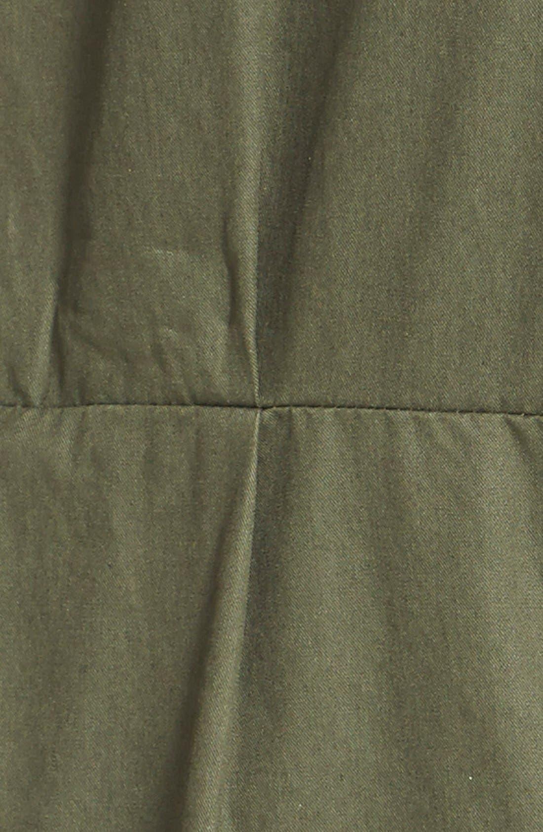 Faux Fur Trim Utility Parka,                             Alternate thumbnail 4, color,                             Spruce
