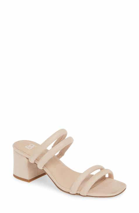 448904d9f040 BP. Lucia Block Heel Slide Sandal (Women)