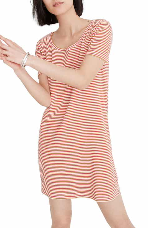 73f49b091aa Madewell Stripe Swingy T-Shirt Dress