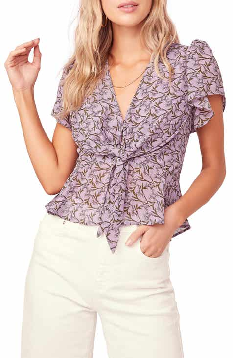 d6179ce1a23ca8 ASTR the Label Tie Front Blouse