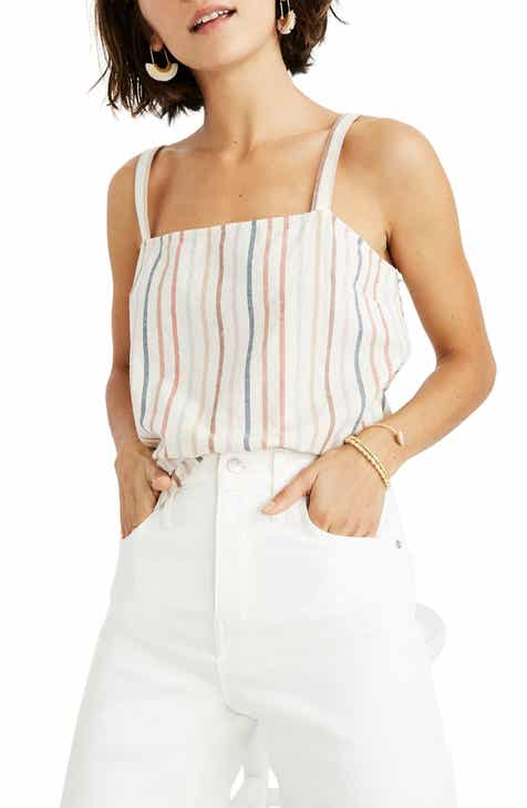 #2 Madewell Flecked Rainbow Stripe Side Button Camisole Read Reviews