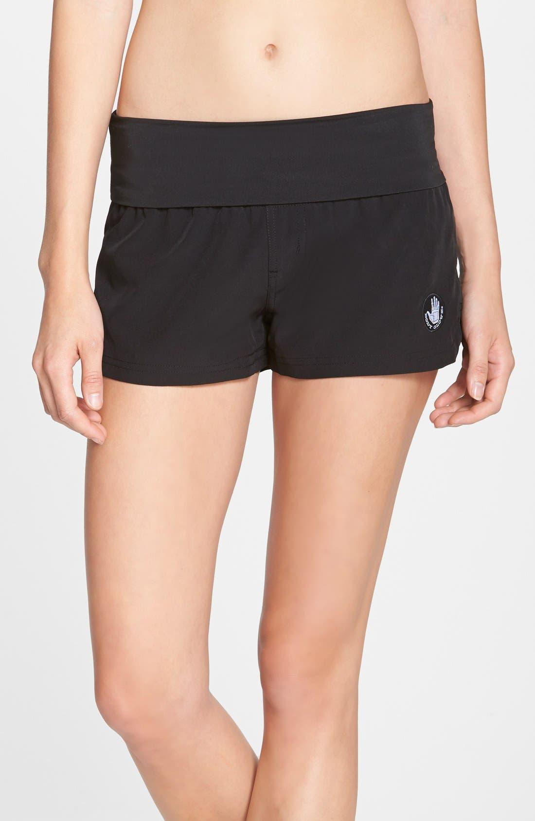 'Doheny' Water Repellent Microfiber Board Shorts,                         Main,                         color, Black