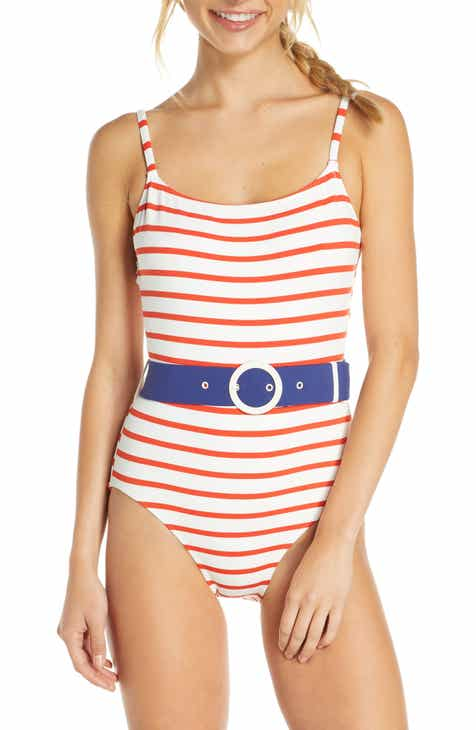 b89558bf9eb30 Solid & Striped The Nina Belted One-Piece Swimsuit