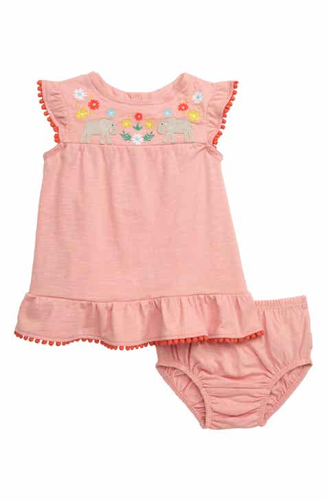 4511474bae7c9 Mini Boden Jungle Embroidered Elephants Dress (Baby & Toddler Girls)