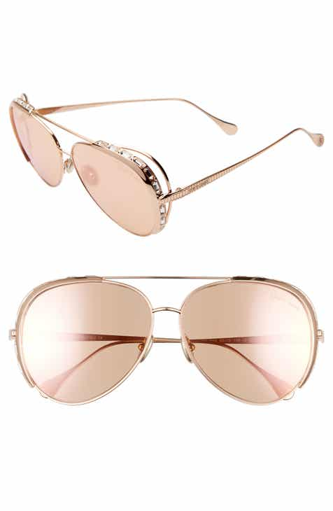 48df48bd87 Roberto Cavalli 60mm Mirrored Aviator Sunglasses