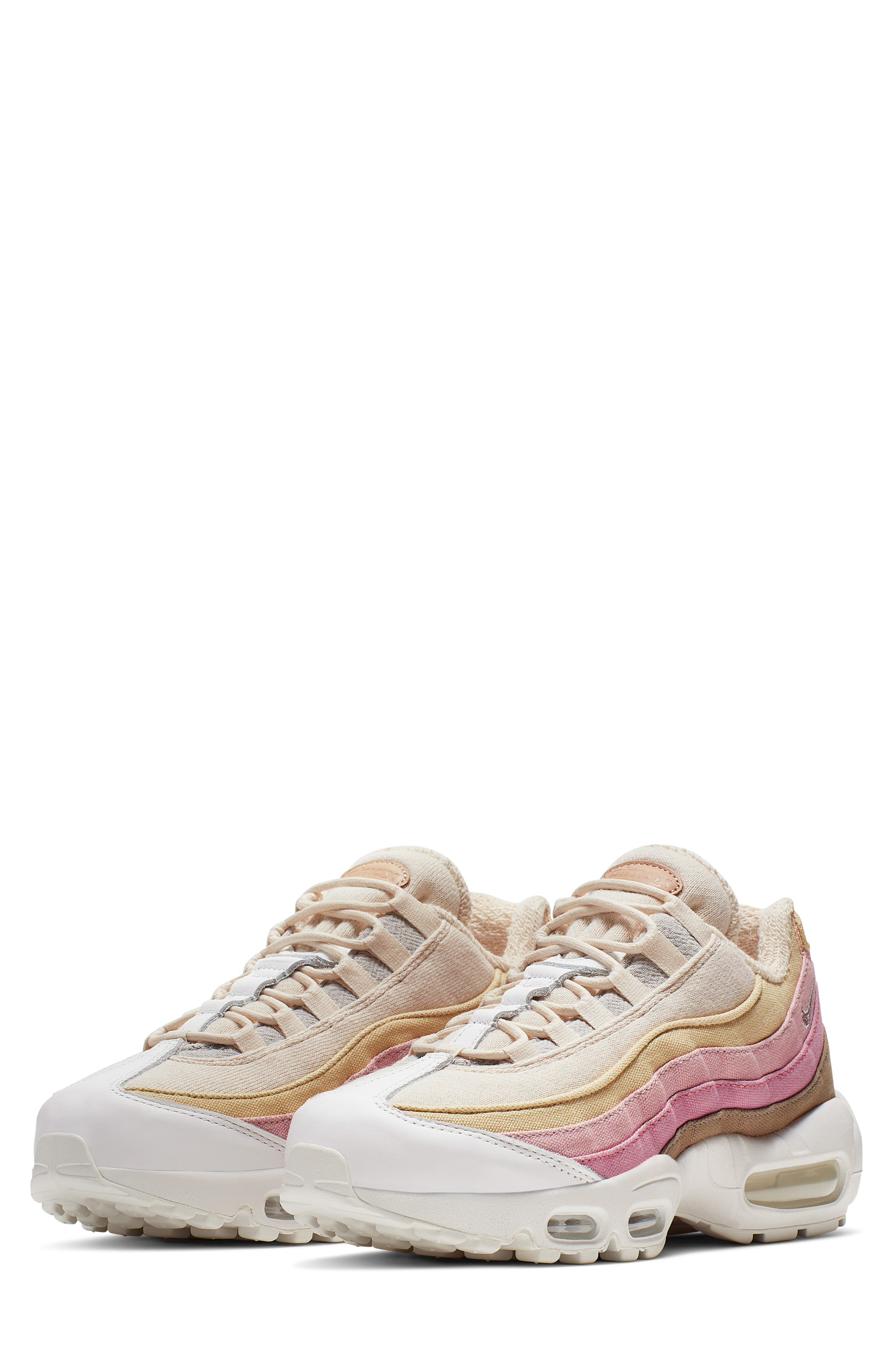 Air Max 95 Plant Color Collection Beige (W) in BeigeTan Pink Coral White