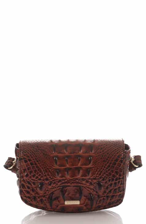 b035e6d101 Brahmin Lil Croc Embossed Leather Convertible Crossbody Bag