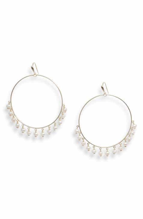 a854de8d5 Kendra Scott Hilty Natural Pearl Hoop Earrings