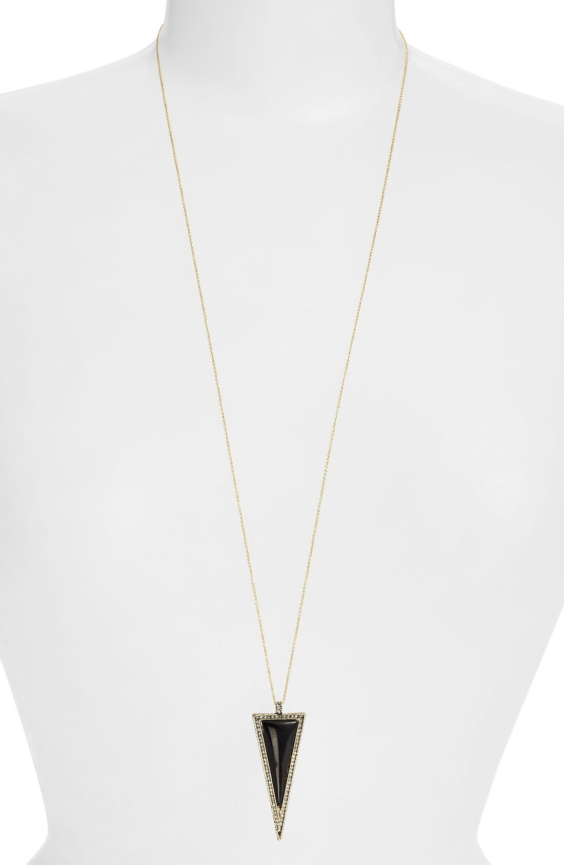 Alternate Image 1 Selected - House of Harlow 1960 'Delta' Triangle Pendant Necklace
