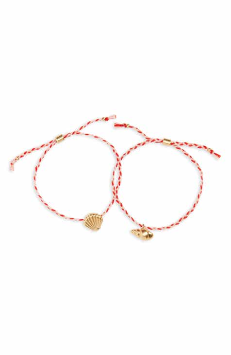 Madewell Set of 2 Corded Friendship Bracelets