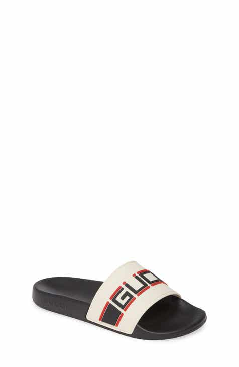 46c0a70ac Gucci Pursuit Logo Slide Sandal (Toddler & Little Kid)