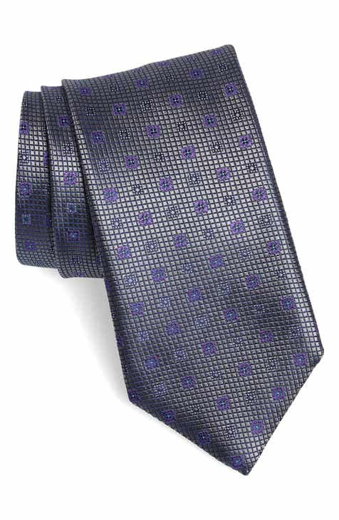 023edc36b390 Canali Medallion Silk Tie