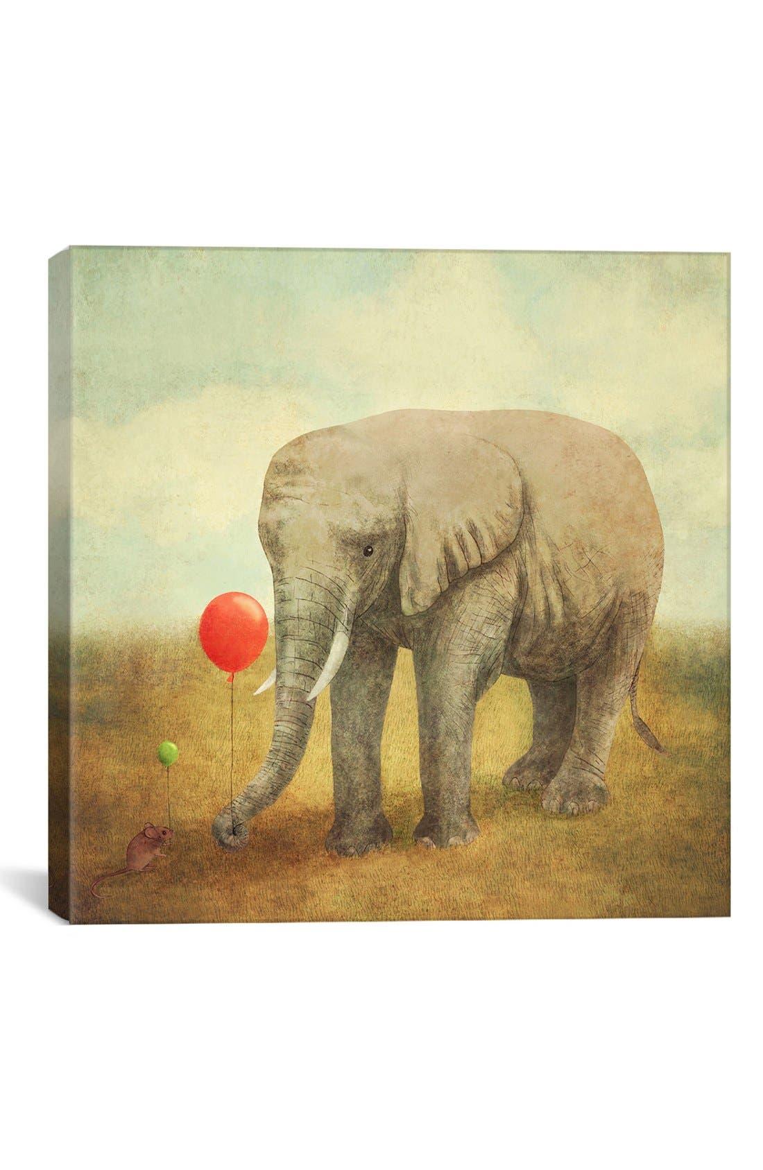 'Truce Square - Terry Fan' Giclée Print Canvas Art,                         Main,                         color, Grey