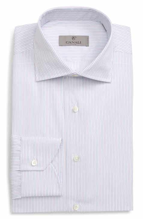 Canali Regular Fit Stripe Dress Shirt