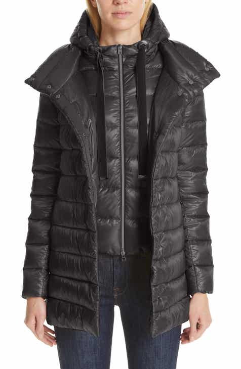 b6fa4879d97c8c Herno High/Low Quilted Down Puffer Coat with Removable Hooded Inset