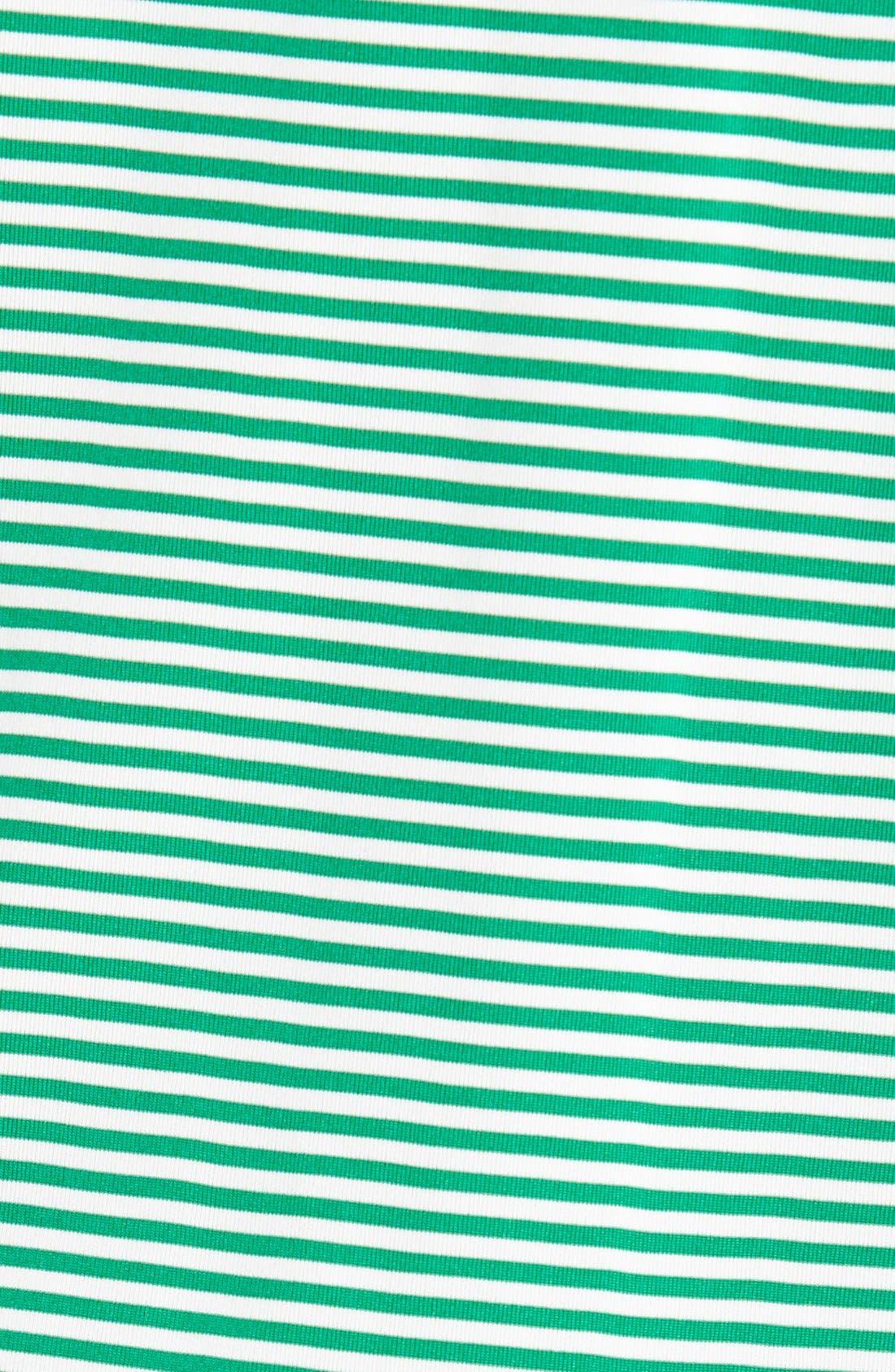 Trevor DryTec Moisture Wicking Golf Polo,                             Alternate thumbnail 3, color,                             Loft Green/ White