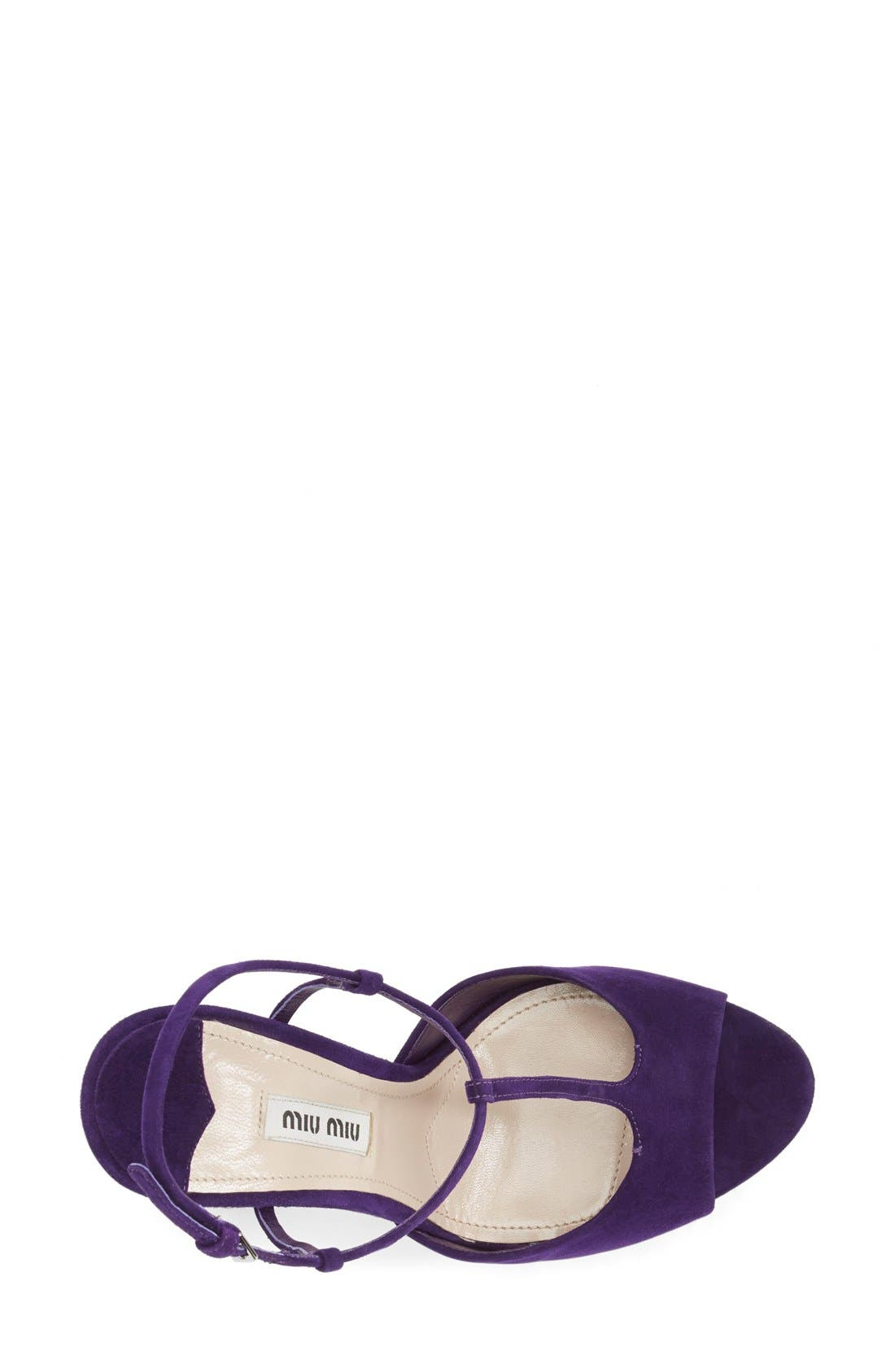 Alternate Image 3  - Miu Miu Mary Jane Platform Sandal (Women)